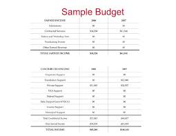 Nonprofit Budget Worksheet Sample Nonprofit Budget Template Business