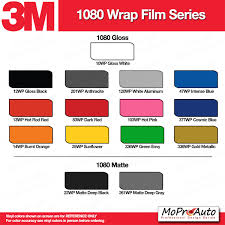 2013 Ford Color Chart Color Chart All 3m And Avery Vinyl Color Samples