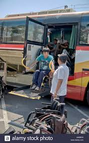 wheelchair lift bus. Perfect Lift Wheelchair Lift And Hoist Point On A Modified Coach For The Disabled   Stock Image On Lift Bus