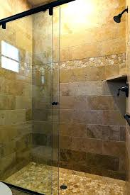 river rock shower tile mat contemporary bathroom idea in stone ideas installation