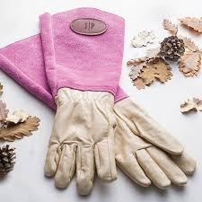 personalised gauntlet gardening gloves