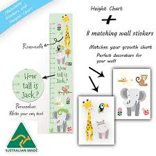 Gift Matching Zoo Animals Personalised Height Growth Chart
