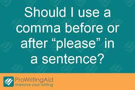 When Do I Use A Comma