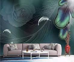 Wall Mural 3D Effect Wallpaper Peacock ...