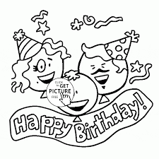 Happy Birthday Family Coloring Page For
