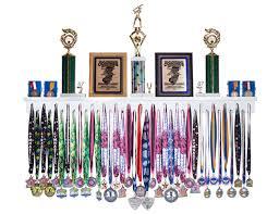 medal display rack medalrack4 white medalrack4 black medalrack4 wood