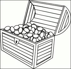 Treasure Chest Coloring Pages Color Zini