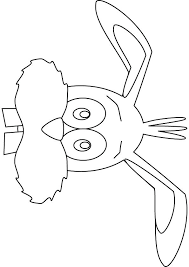 Easter Bunny Face Coloring Pages Drawing Auchmar