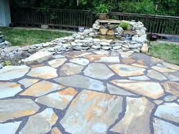impressing flagstone patio cost home per square
