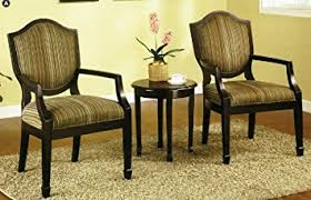 table 2 chairs. 3 pc. set of 2 accent chairs table
