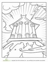 2c4bff4339c186e014911daca7db8e63 mount olympus greek gods grand canyon coloring page coloring, awesome and virtual on national geographic inside north korea worksheet