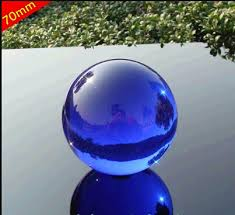 Decorative Sphere Balls 60mm Rare Acid blue decorative solid glass ball crystal ball 51