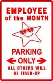 Employee Of The Month Award Employee Of The Month Parking Award Job Sign