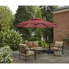 Exterior Cool Black Round Small Patio Lowes fset Umbrellas With