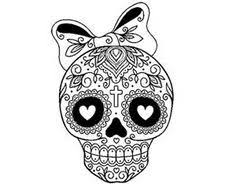 Small Picture Extra Large Sugar Skull Version 7 Wall Vinyl Decal by DabbleDown