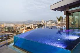 Striking Balcony Pool Design Of Hotels With Infinity Pools Equipped With  Glass Material For Transparent Look In Small Design | Hotel & Resort |  Pinterest ...