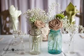Cool Mason Jars Keywords Along With Large Stemmed Burlap Roses Mason Jar  Decor By Dixiebydesign Similiar