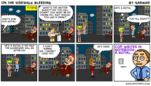 bleeding on the sidewalk lessons teach on the sidewalk bleeding bitstrips