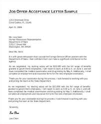 letter to accept job job promotion acceptance letter sample of job acceptance letter