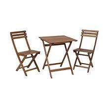 greemotion Ensemble chaise et table bistrot Borkum - Table de jardin ...