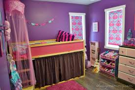 Purple Turquoise Bedroom For Girls With Curtains And Drawers Also Storage