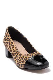 Clarks Chartli Diva Leopard Block Heel Pump Nordstrom Rack