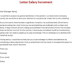 Salary Increment Letter Format Letters Font