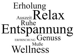 Wandtattoo Worte Relax Genuss Wellness Homestickerde