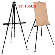 folding artist w boards telescopic painting easel tripod display stand art metal