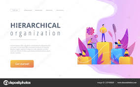 Business Hierarchy Concept Landing Page Stock Vector