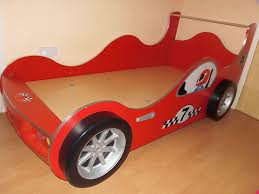 wooden single racing car bed frame