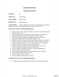 Manager Duties Resume Useful Retail Manager Duties List Store Manager Job Description 14