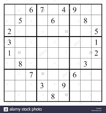 Sudoku Puzzle Layout In Form Stockfotos Sudoku Puzzle Layout In