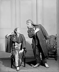 pyg on play lynn fontanne eliza and henry travers alfred doolittle in the theatre guild production of pyg on 1926