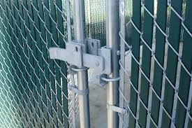 chain link fence gate latch steel fence ideas install chain link