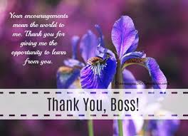 Thank You Message To Boss Thank You Messages For Boss 365greetings Com
