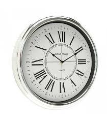 round wall clock silver plastic