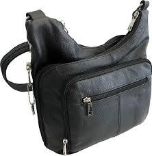 roma leathers stylish leather locking concealment cross purse ccw concealed carry handbag ambidextrous black 7085 blk handbags com