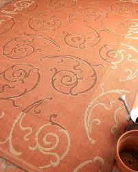 phyllis scrolls indoor outdoor rug 4 x