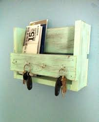 ... Mail Organizer Diy Wall Mail Organizer With Key Hooks Made From  Reclaimed Wood Home Improvement Mail ...