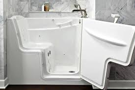... Bathtubs Idea, Awesome Walk In Spa Tub Creative Bathroom With Door And  Shelf And Bottles ...