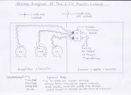 3 valve 3 watt stereo amplifier wiring diagram of the recommended 6 3v valve heater configuration this part of the wiring is best done first to save a fiddly job later