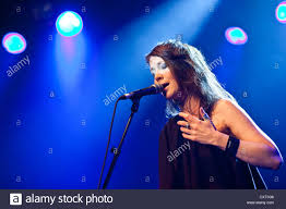 Louise Rhodes, singer of the British band Lamb, live in the Schueuer Stock  Photo - Alamy