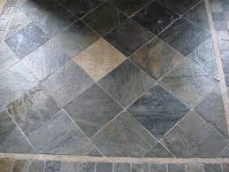 Slate Kitchen Floor Tiles Slate Tile Floor With Etched Stone Deco New Jersey Custom Tile