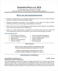 Healthcare Manager Resume Interesting 48 Basic Administration Resume Templates PDF DOC Free