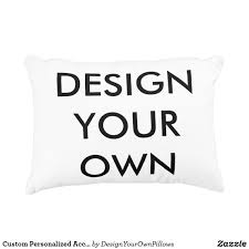Design Your Own Personalized Gifts Custom Personalized Accent Pillow Blank Template Zazzle