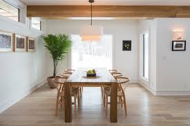 drum light fixture dining room modern with clerestory window drum pendant light light wood floor minimal breakfast table lighting