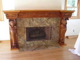 furniture adorable brown fireplace mantel design inspiration with attractive carving stone wall and white nice ma