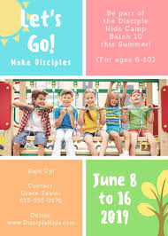 Summer Camp Flyer Template Extraordinary Let's Go Colorful Youth Summer Camp Church Flyer Templates By Canva