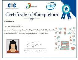 csc certificate vle